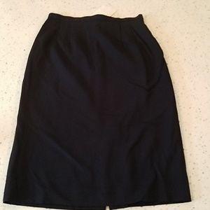 Talbots navy wool pencil skirt 6 NWT